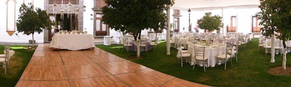 Jardín para boda Hotel Hacienda La Venta